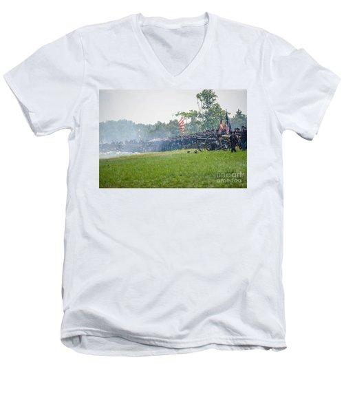 Gettysburg Union Infantry 9968c Men's V-Neck T-Shirt