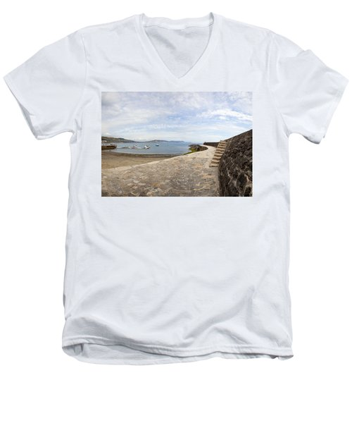 Harbour Wall Lyme Bay Dorset Men's V-Neck T-Shirt