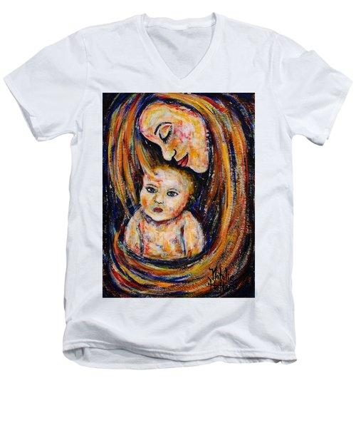Mother's Love Men's V-Neck T-Shirt by Natalie Holland