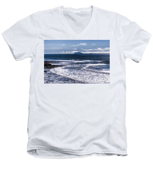 Men's V-Neck T-Shirt featuring the photograph  Point Loma And Islos Los Coronados by Daniel Hebard