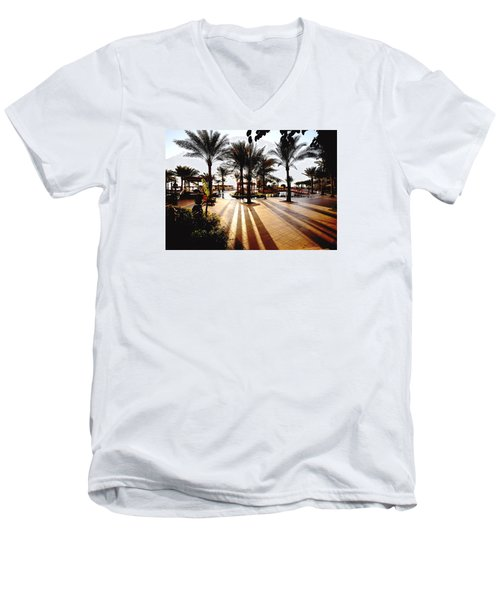 Men's V-Neck T-Shirt featuring the photograph  Silhouettes by Marwan Khoury