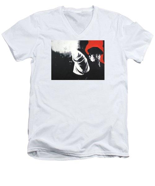 - The Godfather - Men's V-Neck T-Shirt by Luis Ludzska