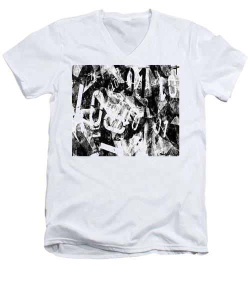 01 Men's V-Neck T-Shirt by Sladjana Lazarevic