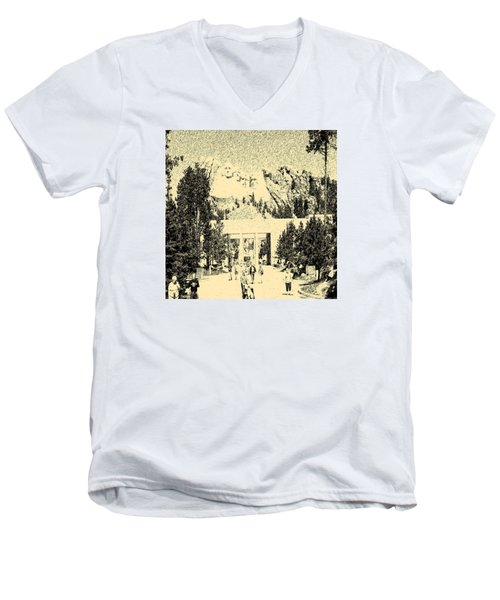 04252015 Mount Rush More Men's V-Neck T-Shirt