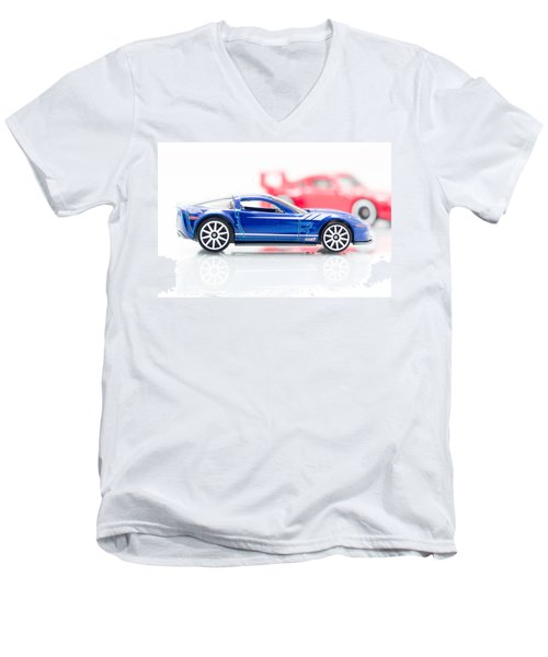 Men's V-Neck T-Shirt featuring the photograph 09 Zr1 by Wade Brooks