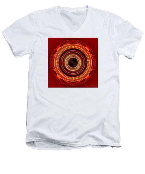 #091520152 Orange Version Men's V-Neck T-Shirt
