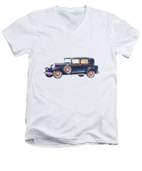 1929 Studebaker Commander Men's V-Neck T-Shirt by John Haldane