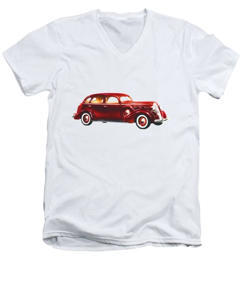 1937 Graham Supercharger Men's V-Neck T-Shirt by John Haldane