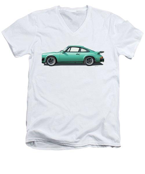 1976 Porsche Euro Carrera 2.7 Illustration Men's V-Neck T-Shirt