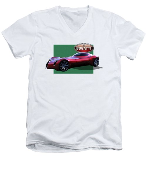 2025 Bugatti Aerolithe Concept With 3 D Badge  Men's V-Neck T-Shirt