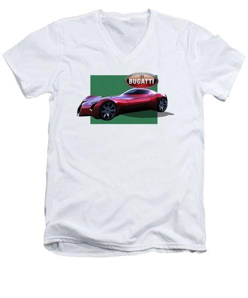 2025 Bugatti Aerolithe Concept With 3 D Badge  Men's V-Neck T-Shirt