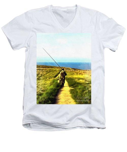 A Plaice To Fish Men's V-Neck T-Shirt