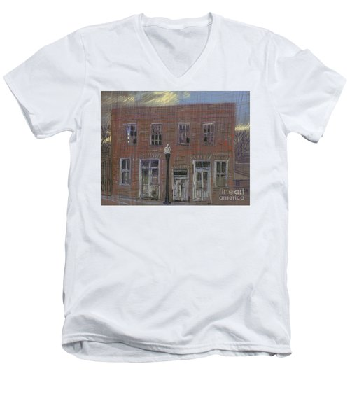 Men's V-Neck T-Shirt featuring the painting Abandoned by Donald Maier