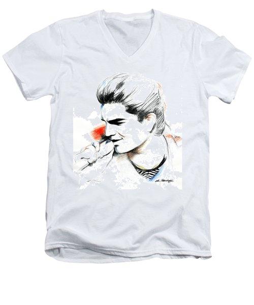 Adam Lambert Men's V-Neck T-Shirt