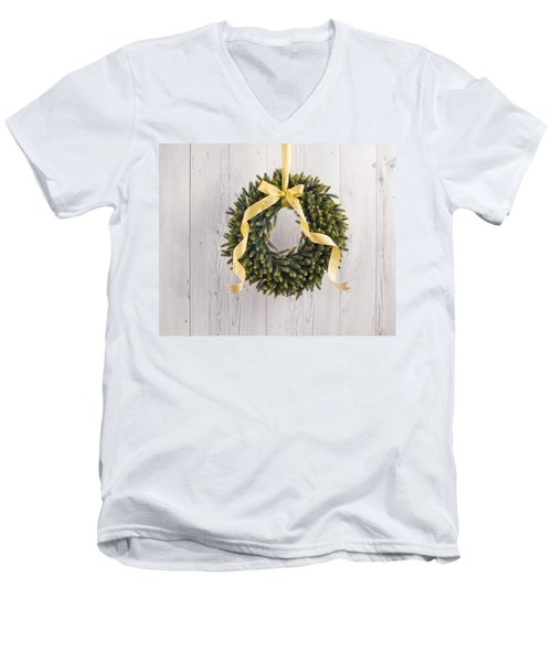 Men's V-Neck T-Shirt featuring the photograph Advents Wreath by Ulrich Schade