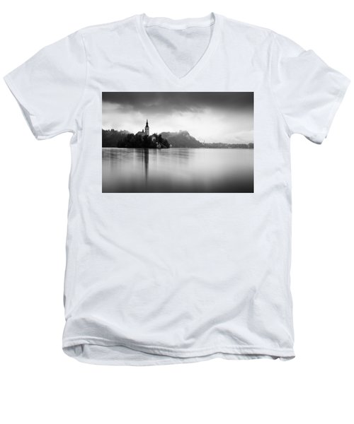 After The Rain At Lake Bled Men's V-Neck T-Shirt