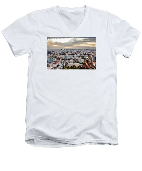 Afternoon On The City Men's V-Neck T-Shirt