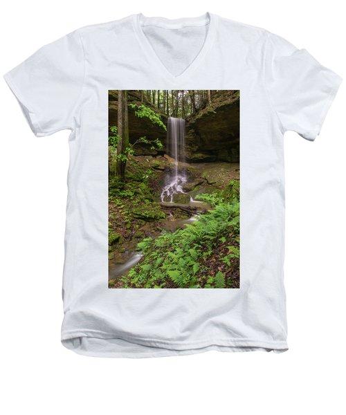 Alcorn Falls. Men's V-Neck T-Shirt