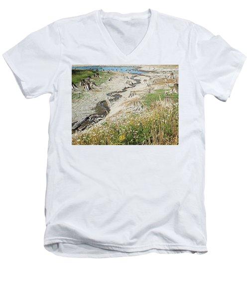 Alder Lake Stumps Men's V-Neck T-Shirt