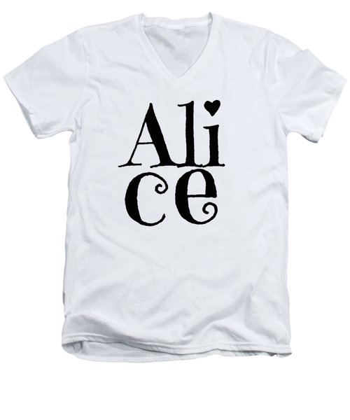 Alice Men's V-Neck T-Shirt