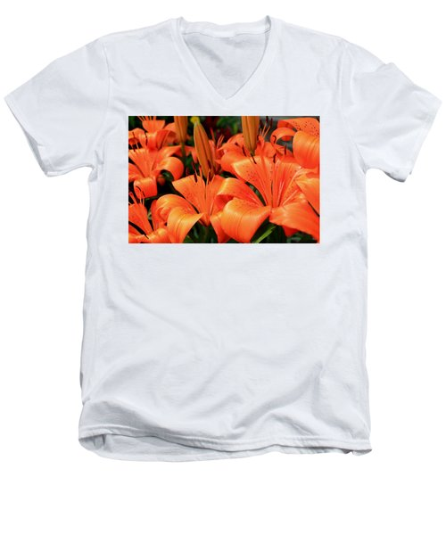 All Consuming Orange Men's V-Neck T-Shirt