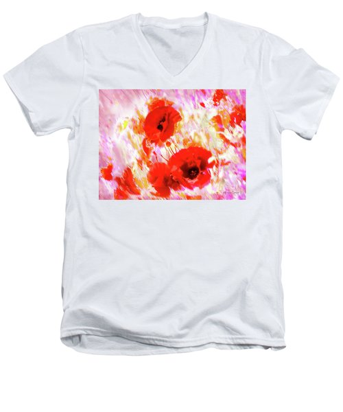 Amapolas Men's V-Neck T-Shirt
