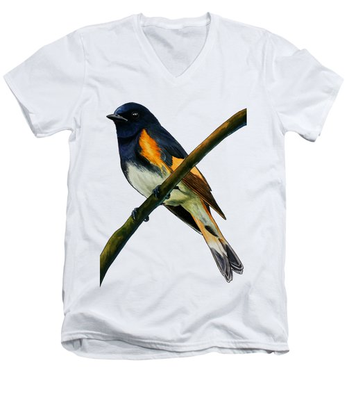 American Redstart Men's V-Neck T-Shirt
