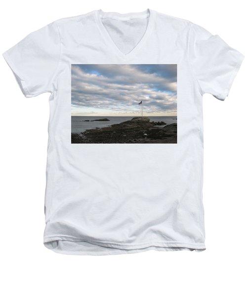 Anchor Beach Men's V-Neck T-Shirt