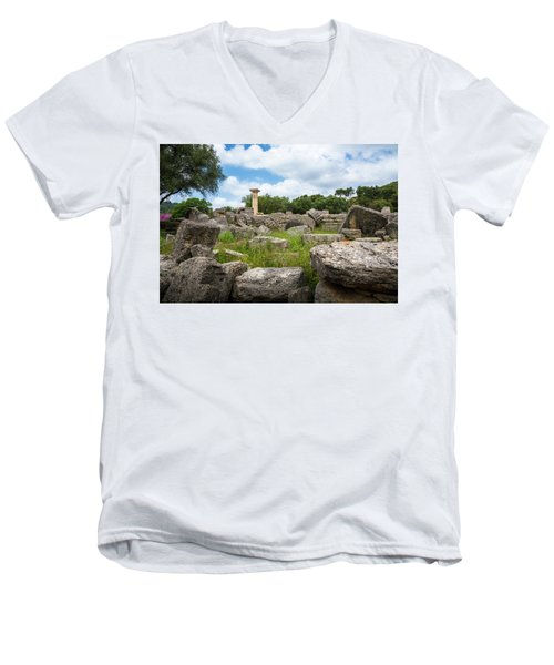 Ancient Olympia / Greece Men's V-Neck T-Shirt by Stavros Argyropoulos