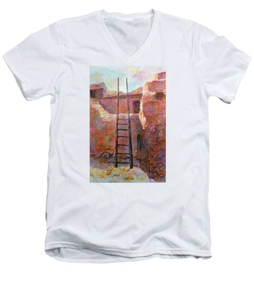 Ancient Walls Men's V-Neck T-Shirt by Ann Peck