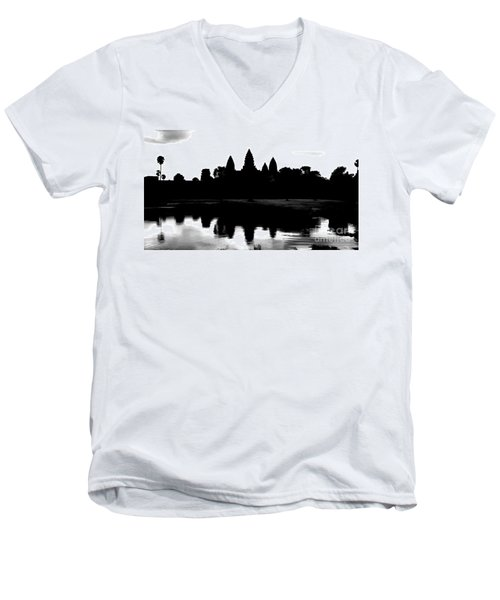 Angkor Wat Black  Men's V-Neck T-Shirt