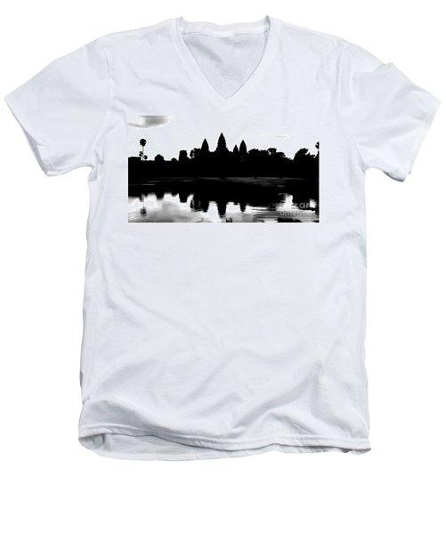 Angkor Wat Black  Men's V-Neck T-Shirt