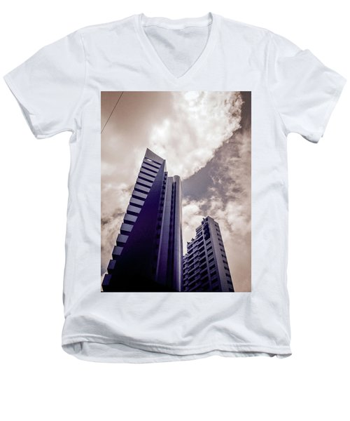 Architecture And Building Men's V-Neck T-Shirt by Cesar Vieira