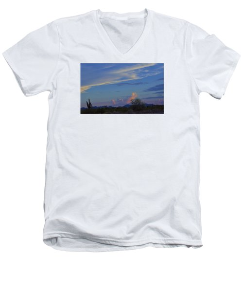 Arizona Desert Men's V-Neck T-Shirt by Helen Haw