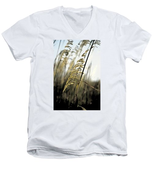 Artistic Grass - Pla377 Men's V-Neck T-Shirt by G L Sarti