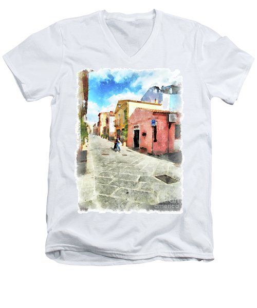 Arzachena Garibaldi Street Men's V-Neck T-Shirt