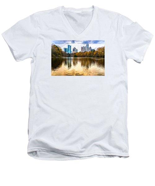 Atlanta - Usa Men's V-Neck T-Shirt by Luciano Mortula