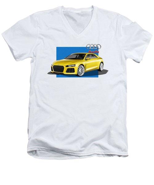Audi Sport Quattro Concept With 3 D Badge  Men's V-Neck T-Shirt