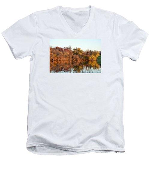 Autumn Reflections Men's V-Neck T-Shirt by Nikki McInnes