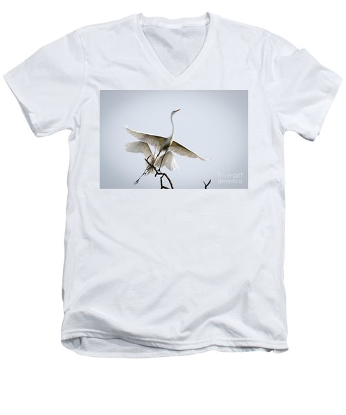 Ballet In The Sky Men's V-Neck T-Shirt