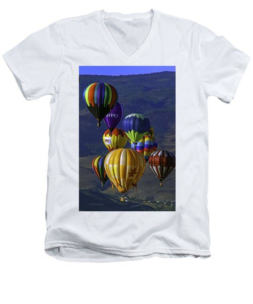 Balloons Over Reno Men's V-Neck T-Shirt