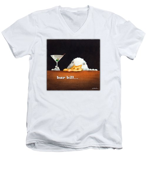 Bar Bill... Men's V-Neck T-Shirt by Will Bullas