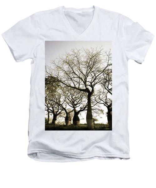 Beautiful Silk Floss Trees Men's V-Neck T-Shirt
