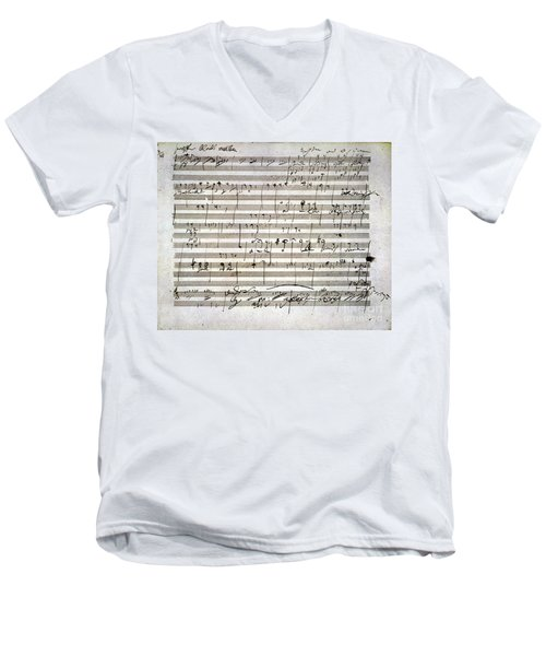 Beethoven Manuscript Men's V-Neck T-Shirt