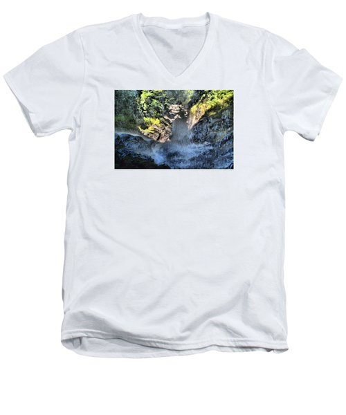 Behind The Falls Men's V-Neck T-Shirt