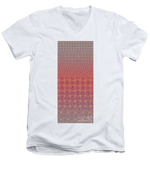 Bibi Khanum Ds Patterns No.5 Men's V-Neck T-Shirt