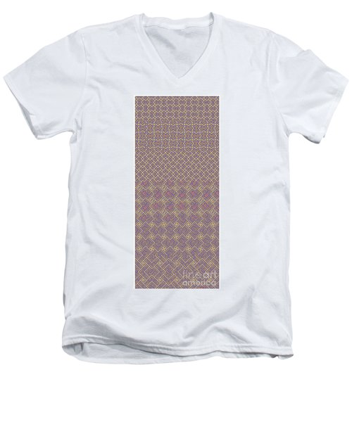 Bibi Khanum Ds Patterns No.6 Men's V-Neck T-Shirt