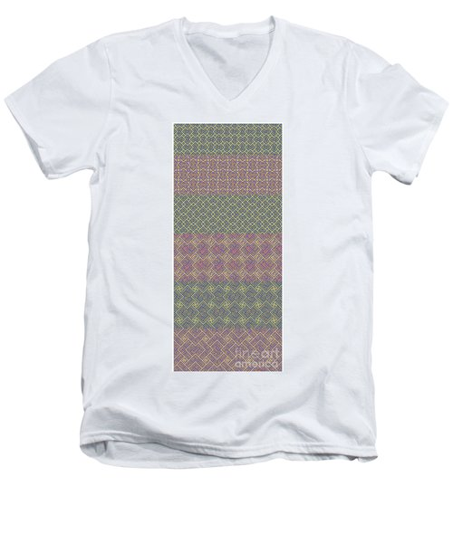 Bibi Khanum Ds Patterns No.9 Men's V-Neck T-Shirt