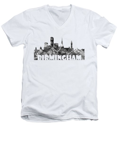 Birmingham England Skyline Men's V-Neck T-Shirt