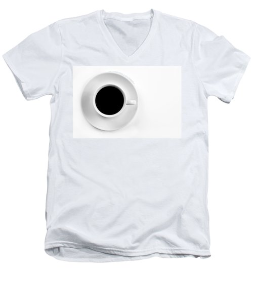 Men's V-Neck T-Shirt featuring the photograph Black Coffee by Gert Lavsen